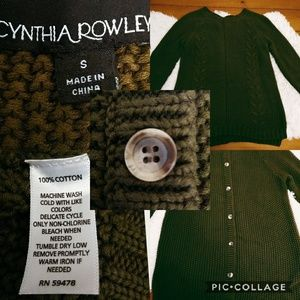 Cynthia Rowley oversized sweater button down back